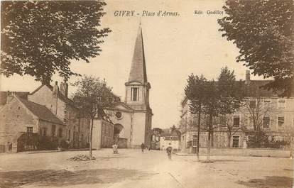 "CPA FRANCE 71 ""Givry, Place d'Armes"""