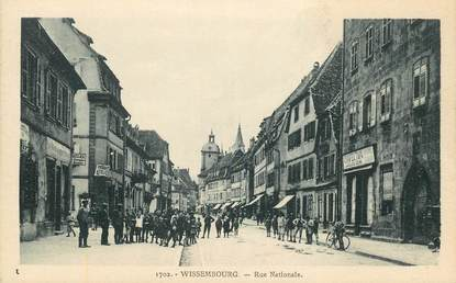 """CPA FRANCE 67 """"Wissembourg, rue Nationale"""""""