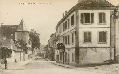 "CPA FRANCE 68  ""Soultz, rue du Ballon"""