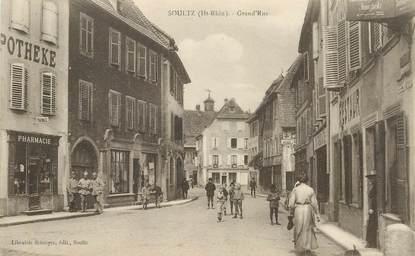 """CPA FRANCE 68  """"Soultz, Grande rue , pharmacie"""""""