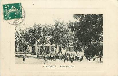 "CPA FRANCE 83 ""Gonfaron, Place Paul Bert"""