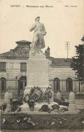 """CPA FRANCE 71 """"Givry, monument aux morts"""""""