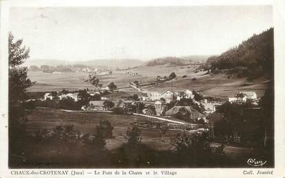 """/ CPSM FRANCE 39 """"Chaux des Crotenay, le pont de la Chaux et le village"""""""