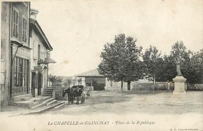 """CPA FRANCE 71 """"La Chapelle de Guinchay, Place de la République"""""""