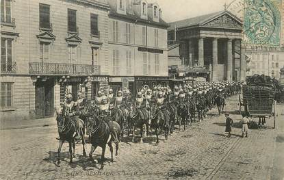 "/ CPA FRANCE 78 ""Saint Germain, le 11ème cuirassiers"" / CHEVAL"
