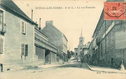 """CPA FRANCE 71 """"Epinac les Mines, la Rue Franche"""""""