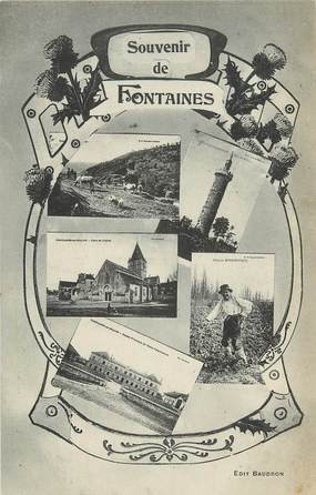"CPA FRANCE 71 ""Fontaines"""