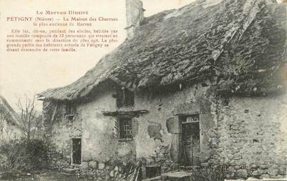 """/ CPA FRANCE 58 """"Fétigny, la maison des charrues"""""""