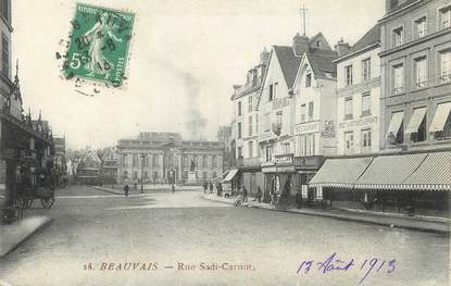 "/ CPA FRANCE 60 ""Beauvais, rue Sadi Carnot"""