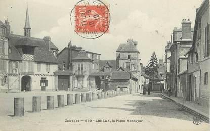 """/ CPA FRANCE 14 """"Lisieux, la place Hennuyer"""""""