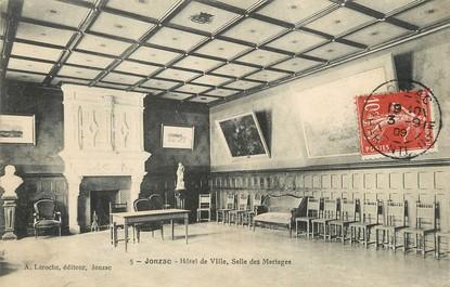 """/ CPA FRANCE 17 """"Jonzac, hôtel de ville, salle des Mariages"""""""