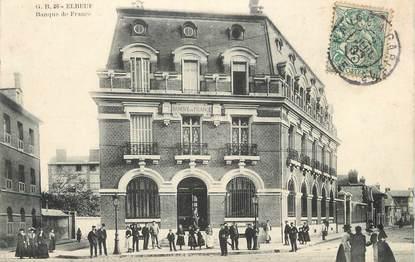 """/ CPA FRANCE 76 """"Elbeuf, banque de France"""""""