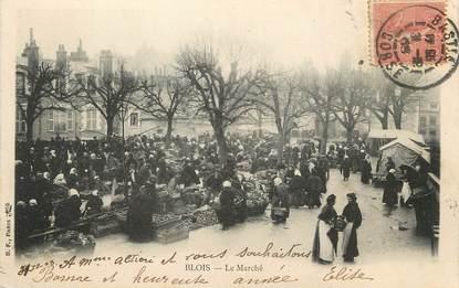 """/ CPA FRANCE 41 """"Blois, le marché"""""""