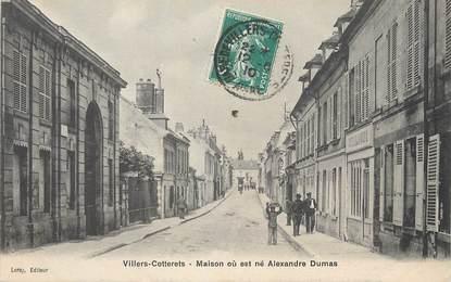"""/ CPA FRANCE 02 """"Villers Cotterets, maison où est né Alexandre Dumas"""""""