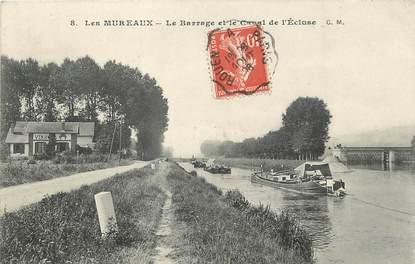 """/ CPA FRANCE 78 """"Les Mureaux, le barrage et le canal de l'écluse"""""""