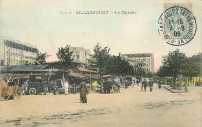 """/ CPA FRANCE 92 """"Boulogne Billancourt, le marché"""""""