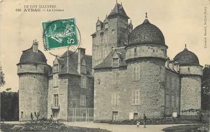 "/ CPA FRANCE 46 ""Aynac, le château """