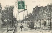 "76 Seine Maritime / CPA FRANCE 76 ""Rouen, le bld Cauchoise"" / TRAMWAY / PONT TRANSBORDEUR"