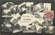 """75 Pari / CPA FRANCE 75019 """"Souvenir de Paris"""""""