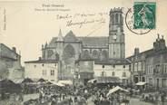 """54 Meurthe Et Moselle / CPA FRANCE 54 """"Toul, place du Marché Saint Gengoult"""" / MARCHE"""
