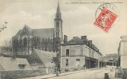 "/ CPA FRANCE 53 ""Craon, l'église Saint Nicolas"""