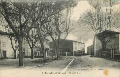 """CPA FRANCE 83 """"Forcalqueiret, Grande Rue"""""""