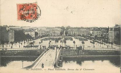 "CPA FRANCE 56 ""Pontivy, place Nationale"""