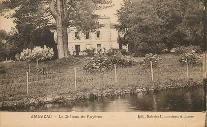 """/ CPA FRANCE 87 """"Ambazac, le château de Royères"""""""