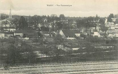 """CPA FRANCE 52 """"Wassy, vue panoramique"""""""