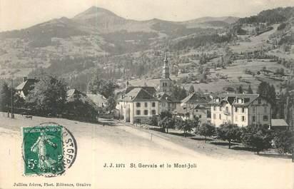 """CPA FRANCE 74 """"Saint Gervais et le mont joli"""""""