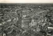 """49 Maine Et Loire / CPSM FRANCE 49 """"Cholet, vue aérienne sur la cathédrale et la ville"""""""