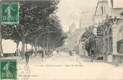 "CPA FRANCE 74  ""Evian les Bains, Quai de Blonay"""
