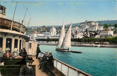 """CPA FRANCE 74  """"Evian les Bains, Lac Léman"""""""