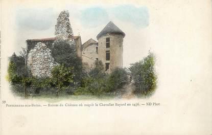 """/ CPA FRANCE 38 """"Pontcharra sur Bréda, ruines du château où naquit la chevalier Bayard en 1476"""""""