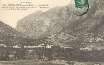 """/ CPA FRANCE 05 """"Chateauroux les Alpes, vue générale"""""""