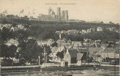 "/ CPA FRANCE 02 ""Laon, vue panoramique"""