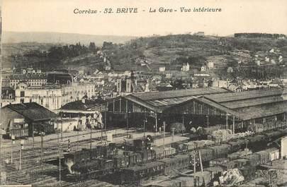 """CPA FRANCE 19 """"Brive, la Gare, vue intérieure"""" / TRAIN"""