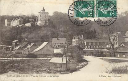 """/ CPA FRANCE 76 """"Tancarville, vue du château et du village"""""""
