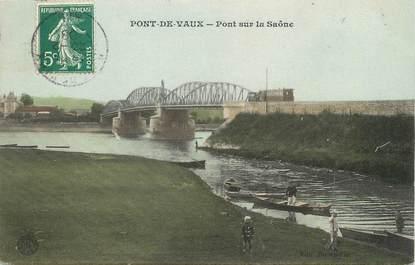 """/ CPA FRANCE 01 """"Pont de Vaux, pont sur la Saöne"""""""