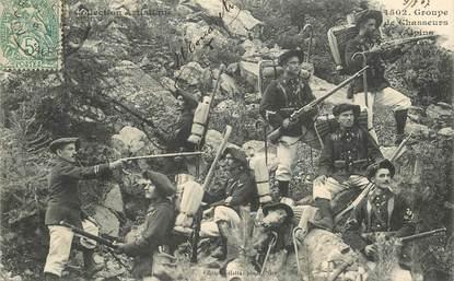 "CPA CHASSEUR ALPIN ""Groupe de chasseurs alpins"""