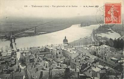"""/ CPA FRANCE 01 """"Trévoux, vue générale et la Saône"""""""
