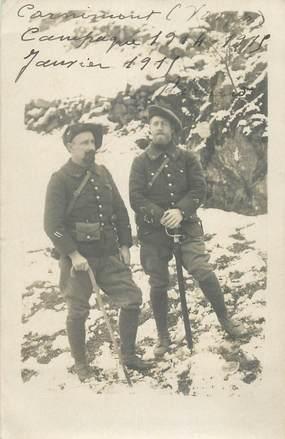 CARTE  PHOTO   CHASSEUR  ALPIN / 1915