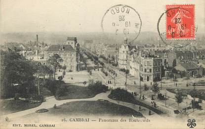 "/ CPA FRANCE 59 ""Cambrai, panorama des boulevards"""