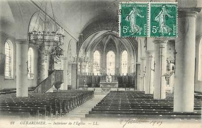 """/ CPA FRANCE 88 """"Gerardmer, interieur de l'église"""""""