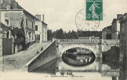 """/ CPA FRANCE 53 """"Craon, le pont neuf"""""""