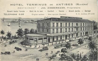 """/ CPA FRANCE 06 """"Antibes, hôtel terminus"""""""