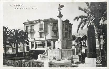 """/ CPSM FRANCE 06 """"Menton, monument aux morts"""""""