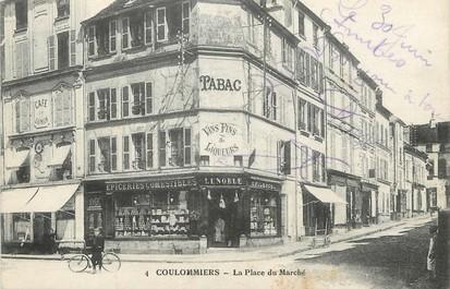 """/ CPA FRANCE 77 """"Coulommiers, la place du marché"""""""