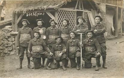 CARTE PHOTO CHASSEUR ALPIN  /  30è  Alpins