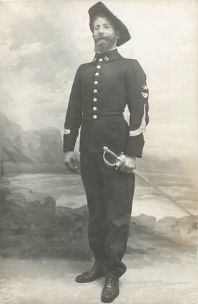 CARTE  PHOTO  CHASSEUR ALPIN / pose  militaire